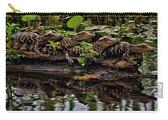 Baby Alligators Reflection Carry-all Pouch by Dan Sproul