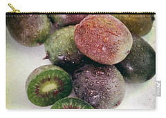 Baby Kiwi With Text Distressed Carry-all Pouch by Iris Richardson