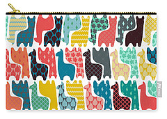Baby Llamas Carry-all Pouch by Sharon Turner
