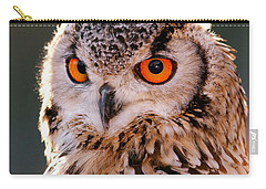 Backlit Eagle Owl Carry-all Pouch by Roeselien Raimond