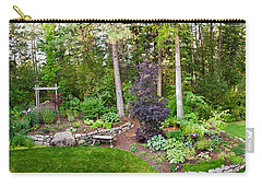 Backyard Garden In Loon Lake, Spokane Carry-all Pouch by Panoramic Images