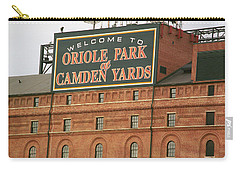 Baltimore Orioles Park At Camden Yards Carry-all Pouch by Frank Romeo