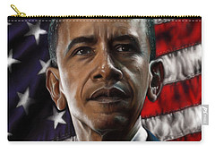Barack Obama Carry-all Pouch by Andre Koekemoer