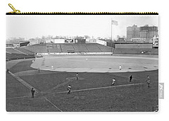 Baseball At Yankee Stadium Carry-all Pouch by Underwood Archives