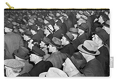 Baseball Fans At Yankee Stadium For The Third Game Of The World Carry-all Pouch by Underwood Archives