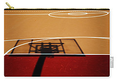 Basketball Shadows Carry-all Pouch by Karol Livote