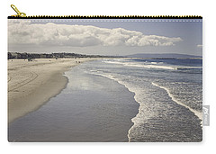 Beach At Santa Monica Carry-all Pouch by Kim Hojnacki