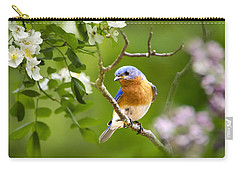 Beautiful Bluebird Carry-all Pouch by Christina Rollo