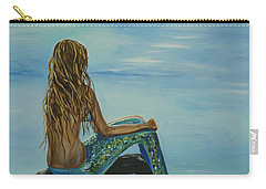 Beautiful Magic Mermaid Carry-all Pouch by Leslie Allen