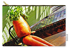 Beer Belly Carrot On A Hot Day Carry-all Pouch by Sarah Loft