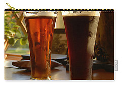 Two Craft Beers Carry-all Pouch by David Lee Thompson
