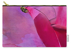 Beetle On A Rose Carry-all Pouch by Betty LaRue