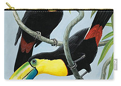 Big-beaked Birds Carry-all Pouch by RB Davis