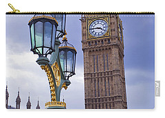 Big Ben And Lampost Carry-all Pouch by Simon Kayne