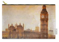 Big Ben At Dusk Carry-all Pouch by Pixel Chimp