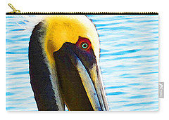 Big Bill - Pelican Art By Sharon Cummings Carry-all Pouch by Sharon Cummings