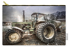 Big John In Winter Carry-all Pouch by Debra and Dave Vanderlaan