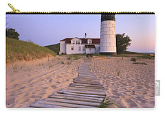 Big Sable Point Lighthouse Carry-all Pouch by Adam Romanowicz