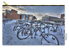 Bikes At University Of Minnesota  Carry-all Pouch by Amanda Stadther