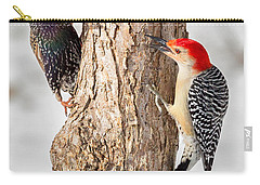Bird Feeder Stand Off Carry-all Pouch by Bill Wakeley