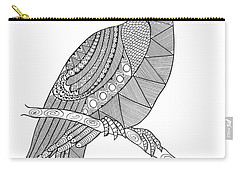 Bird Hornbill Carry-all Pouch by Neeti Goswami