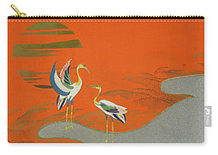 Birds At Sunset On The Lake Carry-all Pouch by Kamisaka Sekka