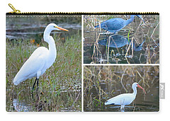 Birds On Pond Collage Carry-all Pouch by Carol Groenen