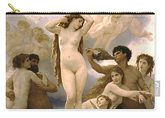 Birth Of Venus Carry-all Pouch by William Bouguereau