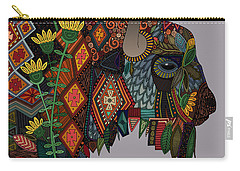 Bison Heather Carry-all Pouch by Sharon Turner