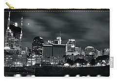 Black And White Nashville Carry-all Pouch by Frozen in Time Fine Art Photography