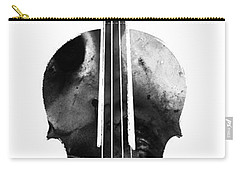 Black And White Violin Art By Sharon Cummings Carry-all Pouch by Sharon Cummings