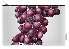Black Grapes Carry-all Pouch by Sally Crosthwaite