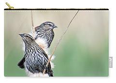 Blackbird Pair Carry-all Pouch by Mike  Dawson