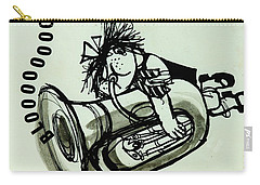 Blooooob! Ink On Paper Carry-all Pouch by Brenda Brin Booker