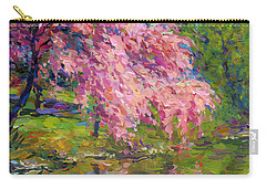 Blossoming Trees Landscape  Carry-all Pouch by Svetlana Novikova