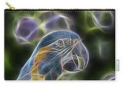 Blue And Gold Macaw  Carry-all Pouch by Douglas Barnard