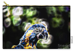 Blue And Gold Macaw V4 Carry-all Pouch by Douglas Barnard