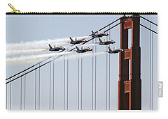 Blue Angels And The Bridge Carry-all Pouch by Bill Gallagher