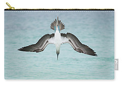 Blue-footed Booby Plunge Diving Carry-all Pouch by Tui De Roy