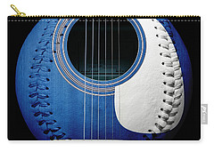 Blue Guitar Baseball White Laces Square Carry-all Pouch by Andee Design