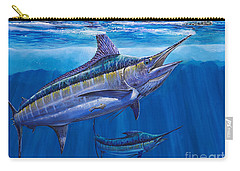 Blue Marlin Bite Off001 Carry-all Pouch by Carey Chen