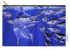 Blue Marlin Round Up Off0031 Carry-all Pouch by Carey Chen