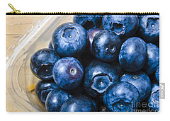 Blueberries Punnet Carry-all Pouch by Jorgo Photography - Wall Art Gallery