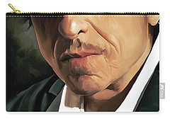 Bob Dylan Artwork Carry-all Pouch by Sheraz A