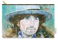 Bob Dylan Oil Portrait Carry-all Pouch by Fabrizio Cassetta