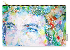 Bob Dylan Watercolor Portrait.3 Carry-all Pouch by Fabrizio Cassetta