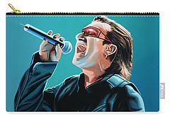 Bono Of U2 Painting Carry-all Pouch by Paul Meijering
