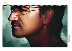 Bono U2 Artwork 1 Carry-all Pouch by Sheraz A