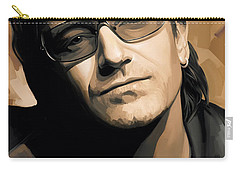 Bono U2 Artwork 2 Carry-all Pouch by Sheraz A