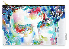 Bono Watercolor Portrait.1 Carry-all Pouch by Fabrizio Cassetta